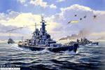 USS Missouri under attack