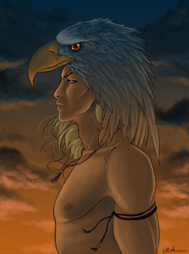 Eagle Man Drawing - More information