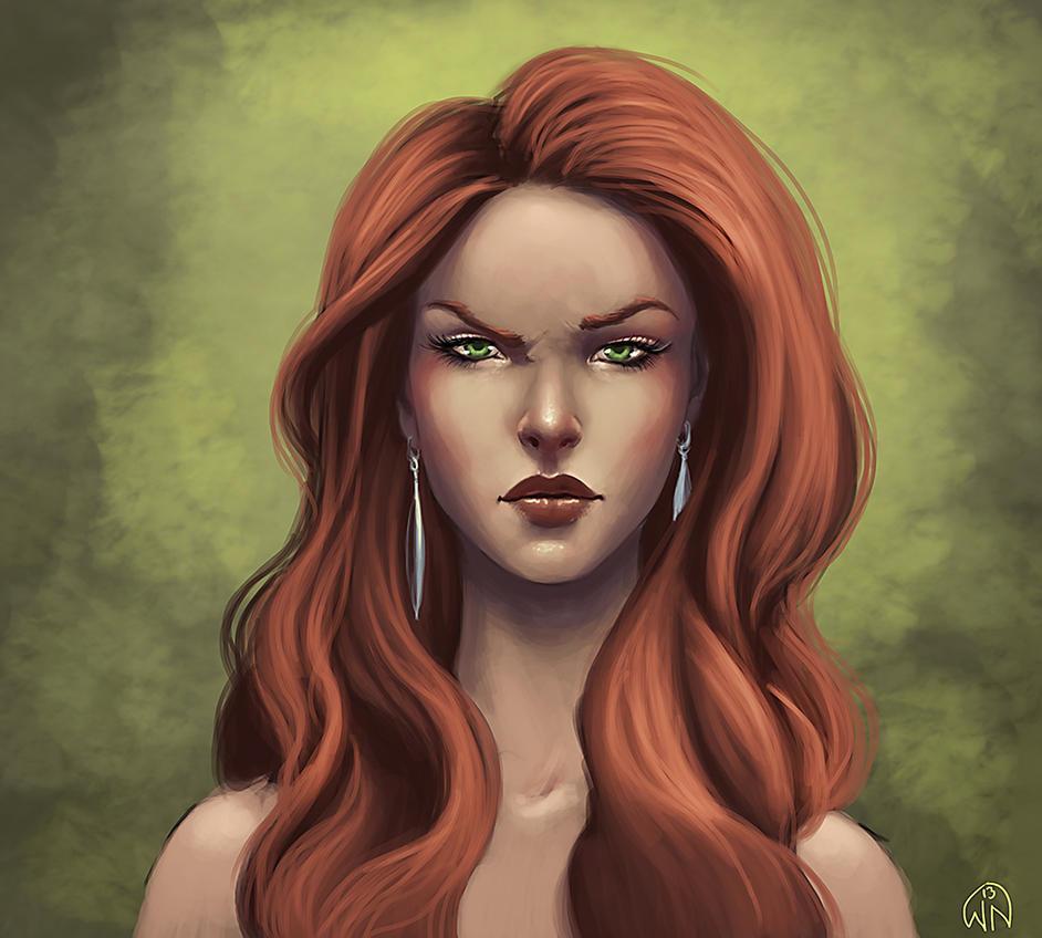 She the fantasy art redhead classic