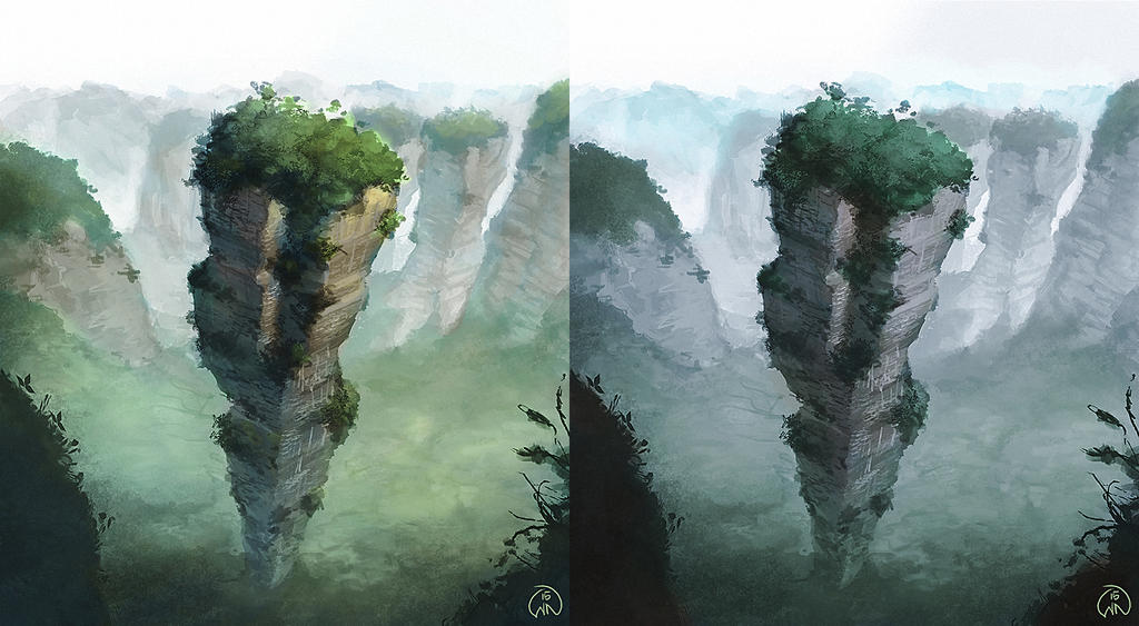 Chinese mountain by Wictorian-Art on DeviantArt