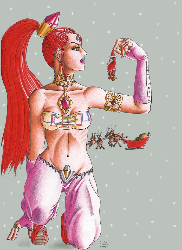 Nabooru and Santa by Wictorian-Art