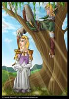LOZ: Link and Zelda by Wictorian-Art