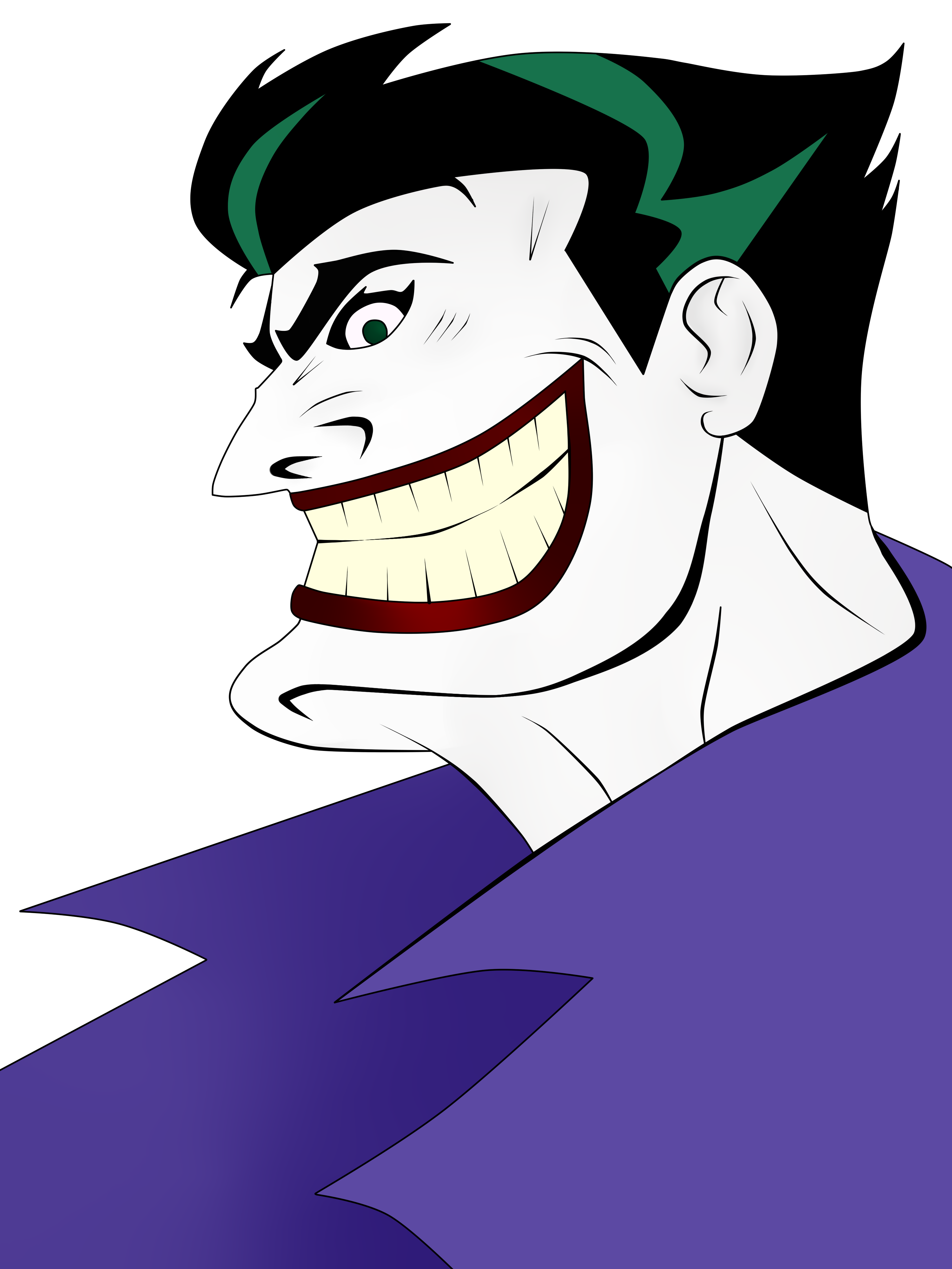 Joker Animated Series Drawing Images & Pictures - Becuo Joker Smile Png