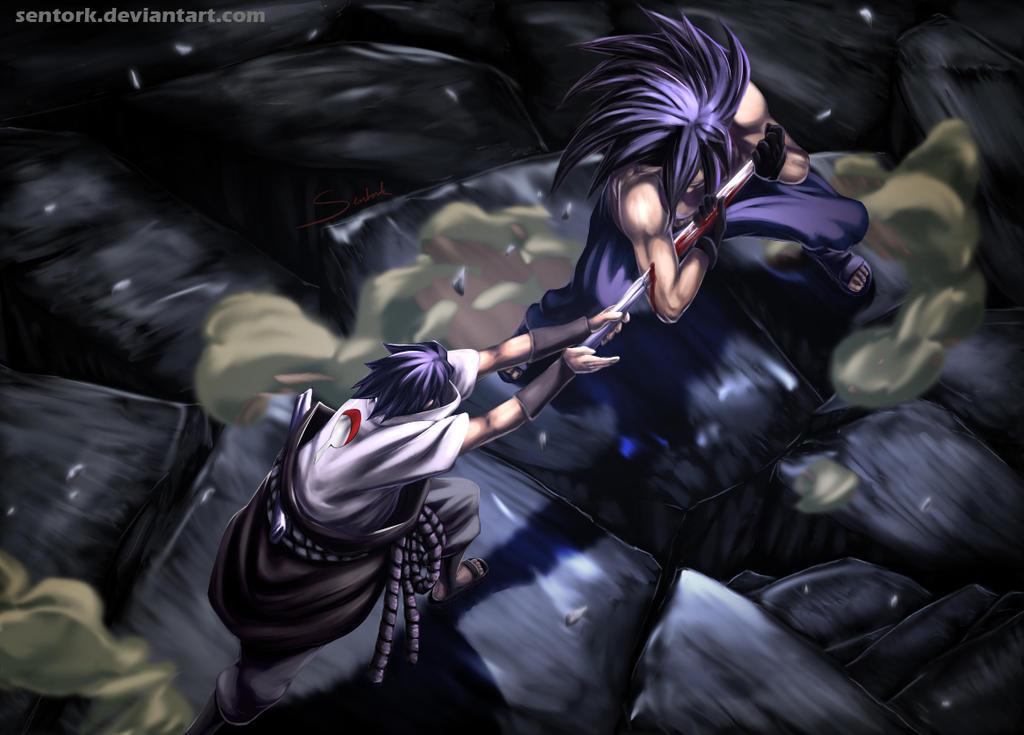Madara vs Sasuke by Sentork