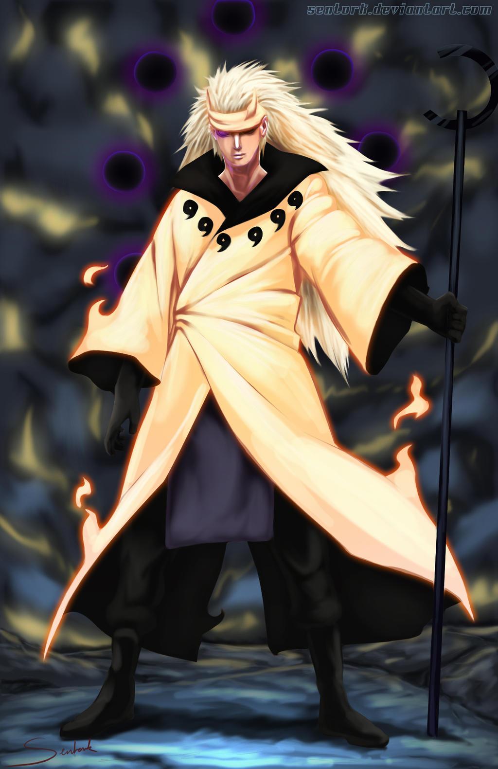 Madara The power of the six paths by Sentork on DeviantArt