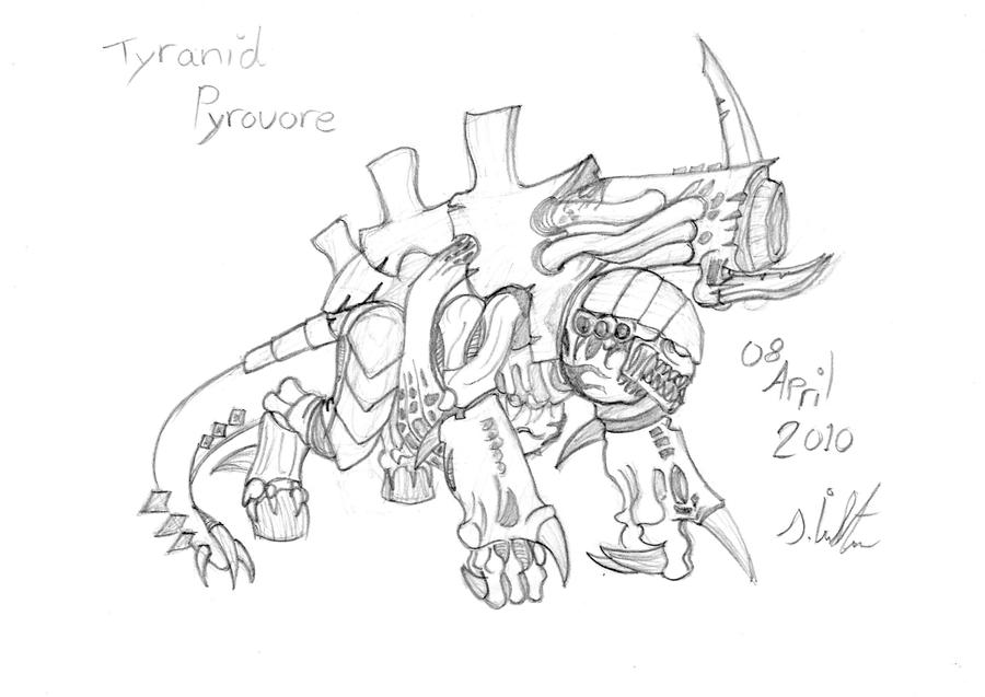 Tyranid Pyrovore by Gaar-uto