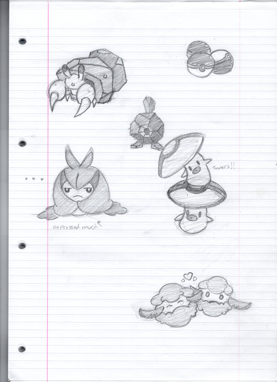 Pokemon Sketches by Gaar-uto