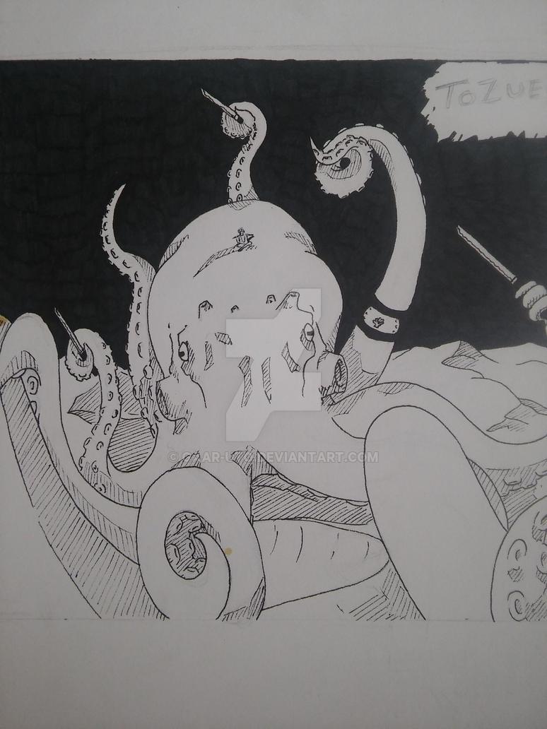 Tozue's Octopus summon. by Gaar-uto