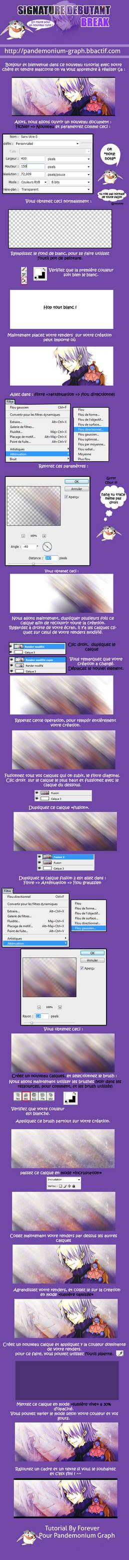 Tutoriel Debutant Photoshop - Break -