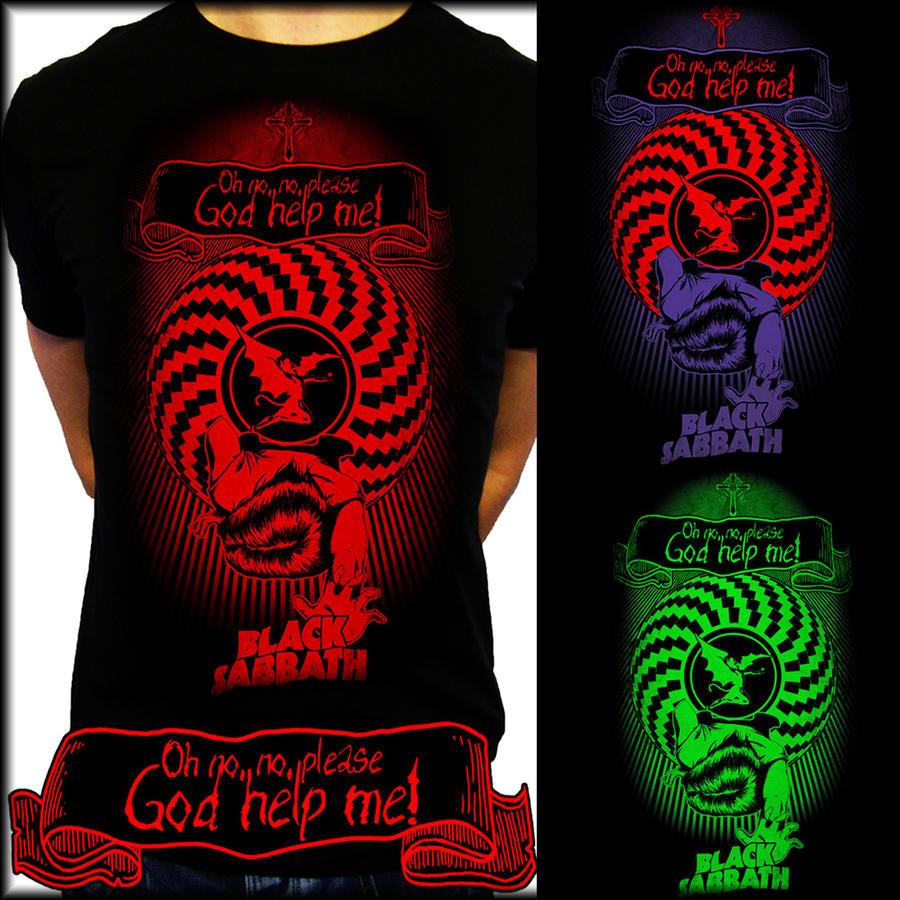 Black t shirt printing - Black T Shirt With Design Black Sabbath T Shirt Design For Emp By Eeren