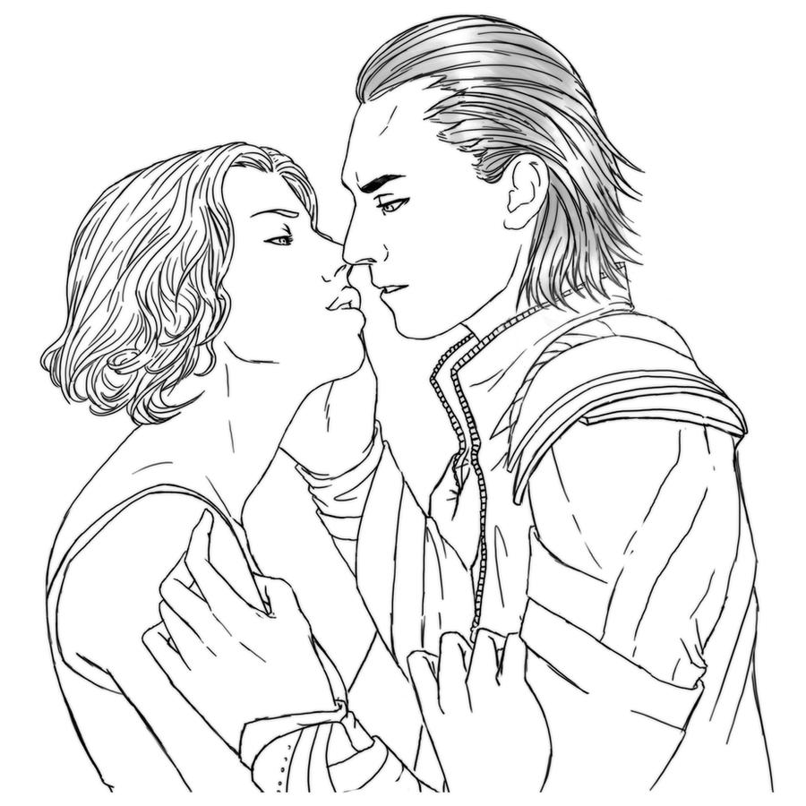 p comm loki x black widow by eeren - Black Widow Marvel Coloring Pages