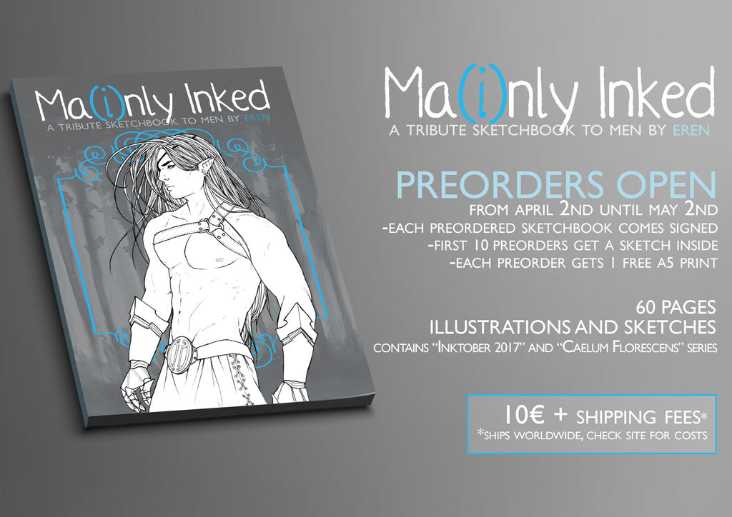 MA(i)NLY INKED - Sktechbook PREORDERS by Eeren
