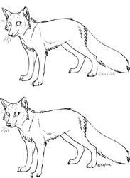 Fox Lineart 2 by Kaylink