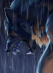 YELLS AT RAIN by Kaylink