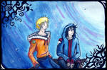 NaruSasu - Moon Watching