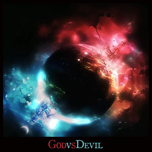 devil vs god drawing - photo #39