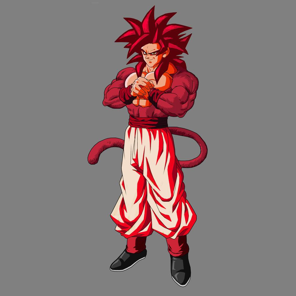 Goku super saiyan 4 kaioken by lord lycan on deviantart - Super saiyan 6 goku pictures ...