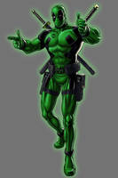 Green Lantern Deadpool by Lord-Lycan