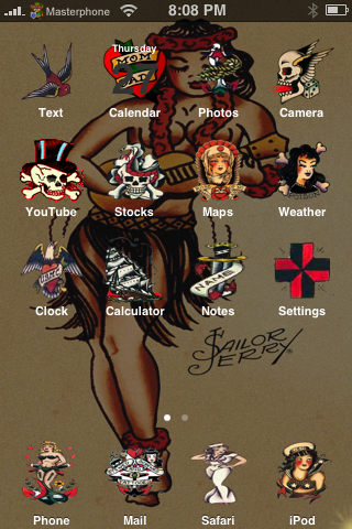 Sailor Jerry iphone Theme by sushi-geisha ...