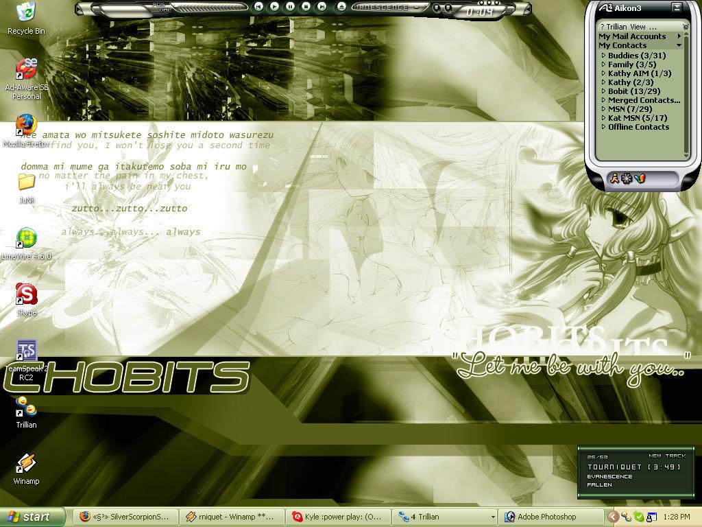 Chobits desktop by Xo-CherryBlossom-oX
