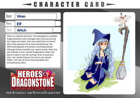 Wren Character Card by JackieLanturn