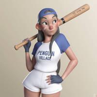 Baseball Girl by DouglasAguila