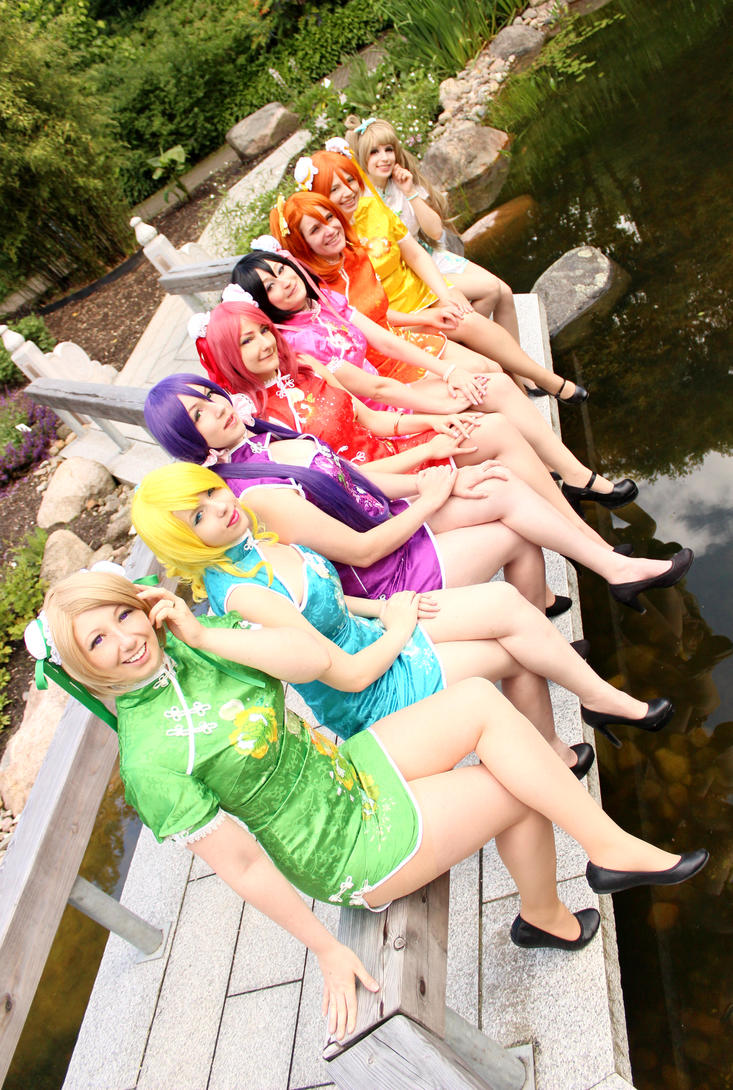Love Live Cheongsam Pre Idolized Group by Shihnasan