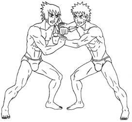 Naruto Vs Sasuke - Lineart