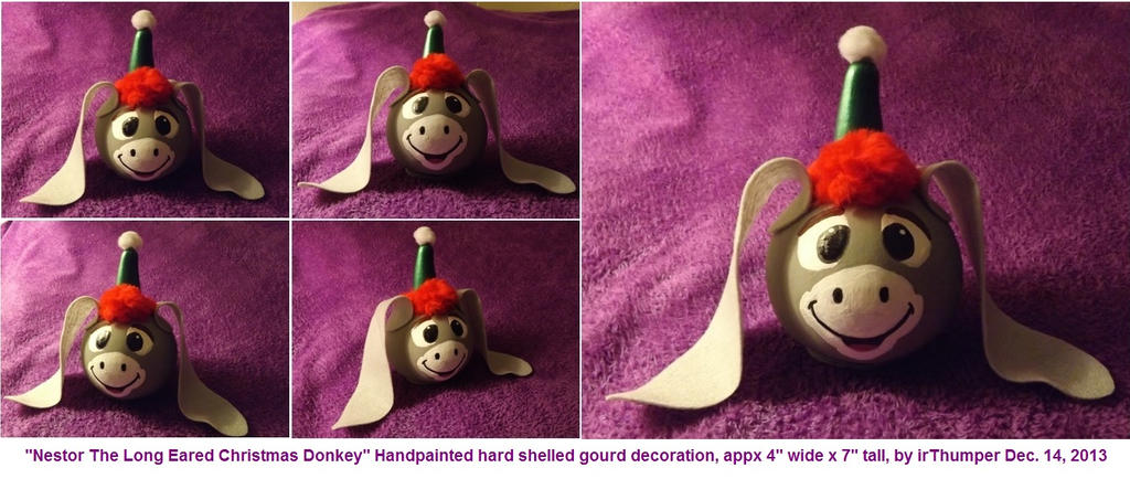 nestor the long eared christmas donkey gourd decor by irthumper - Nestor The Long Eared Christmas Donkey