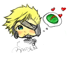 Raiden loves his melons by beloved-remi