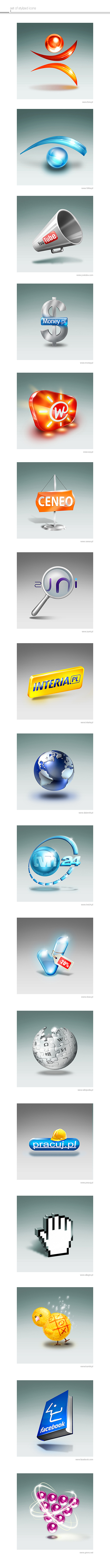 Set of Stylized Icons