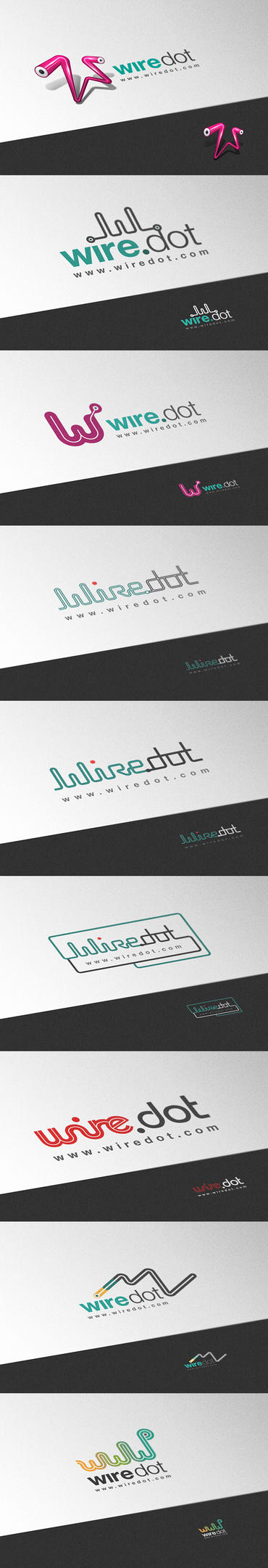 Wire-dot Logo 9versions by pho3nix-bf