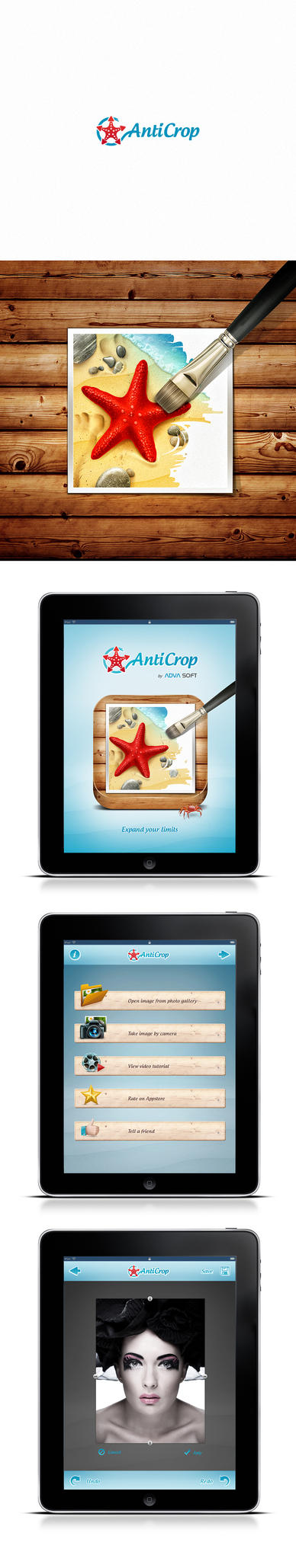 Anticrop Logo Icon and UI design by pho3nix-bf