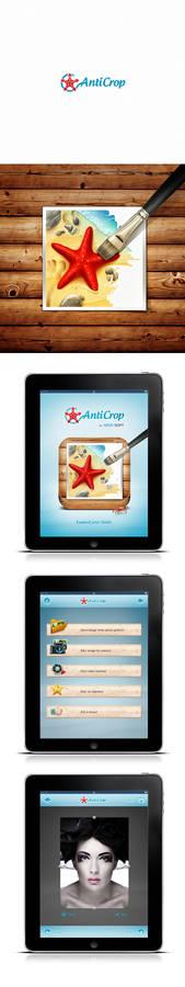 Anticrop Logo Icon and UI design