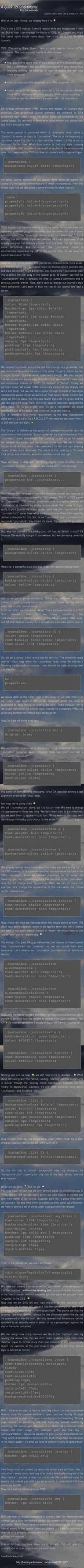 DA journals CSS tutorial