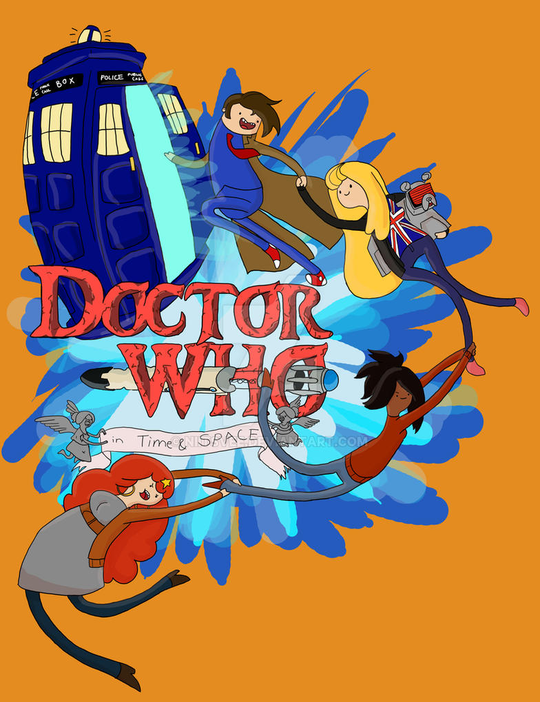 doctor who adventure time shirt design wip by niitsvee