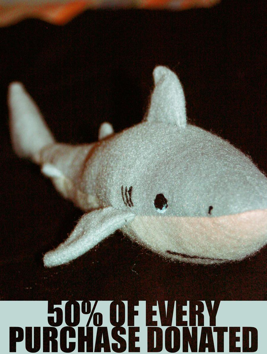 Save the Sharks Plush by niitsvee