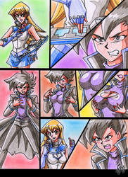 yugioh! Alexis, chazz and secret card 1 by batjap