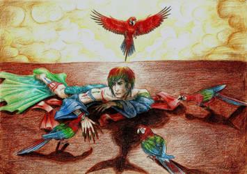 Parrots by Ortodoxik