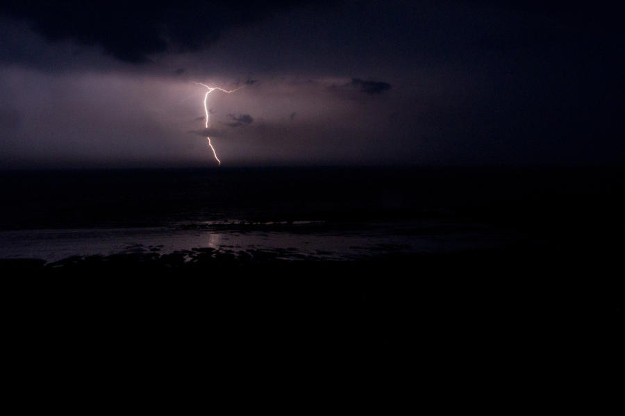 Lightning Over Luce Bay by derekbeattieimages