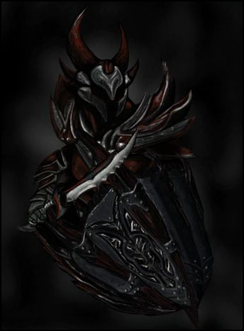 Daedric Armor- Digitally Painted Part 1 by ricanboom