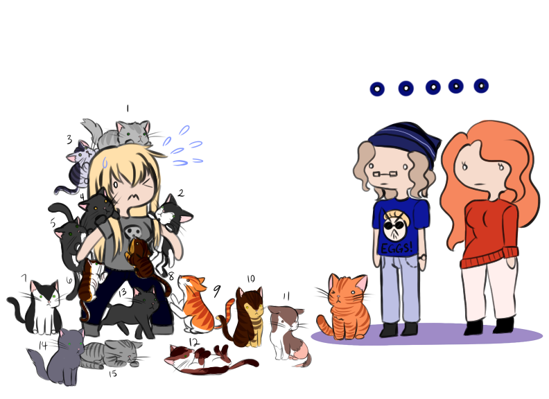 Too Many Cats by Fuyuko-Yuki