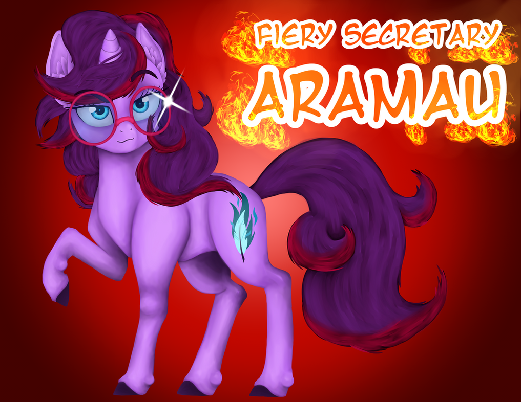 Aramau the Fiery Secretary by Fuyuko-Yuki