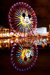 California Adventure ferries wheel reflection 1 by creativesnatcher69