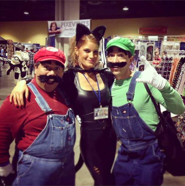 Super Mario Bros with a cat lady by Pabloramosart