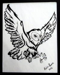 Sarah's owl by creativesnatcher69