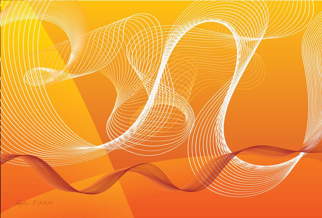 Orange Swirl Vector Background By XZelophobia On DeviantArt