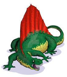 Dinosaur Trading Cards Commission - Dimetrodon