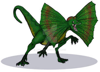 Dinosaurs Trading Card Commissions - Dilophosaurus