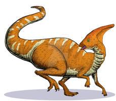 Dinosaur Trading Cards Commission Parasaurolophus